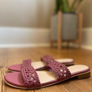 NWT 🏷 LOFT mauve double strap sandal SIZE 8M